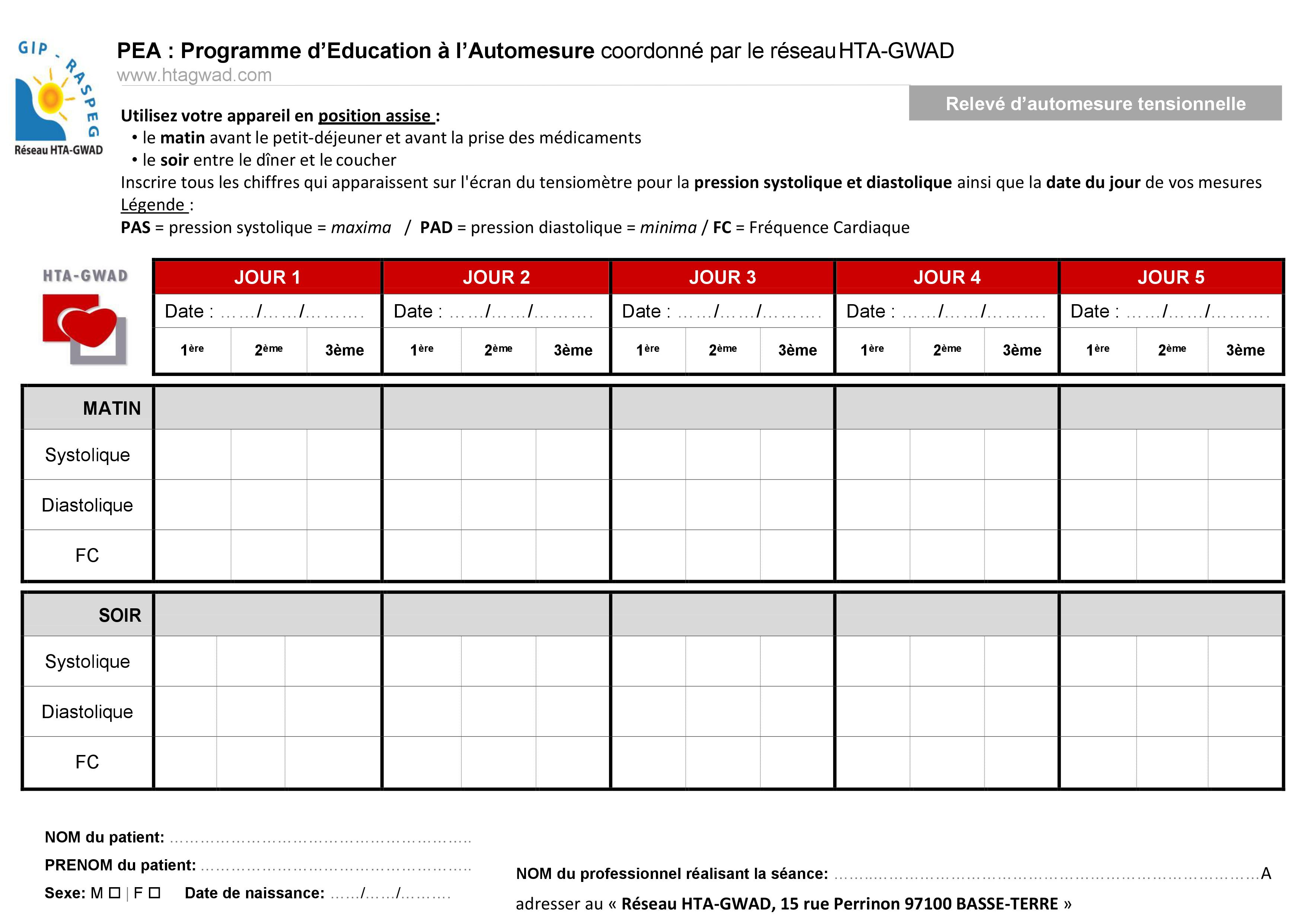 Programme d'Éducation à l'Automesure (PEA)